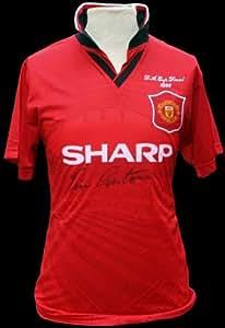 "Eric Cantona autographed uniform ""1996 FA Cup Winners"" front sign (japan import)"