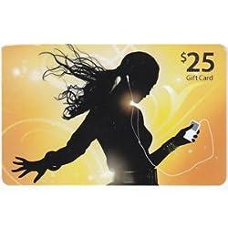APPLE iTunes $25 ギフトカード US/北米版(カード発送)