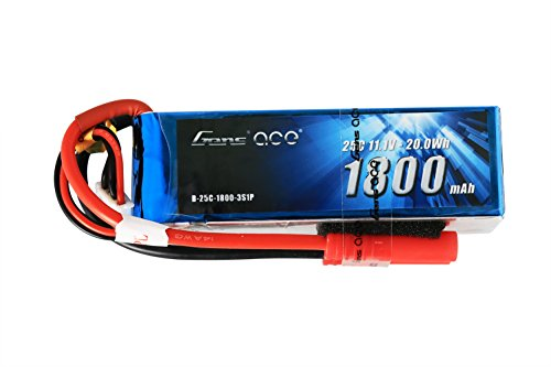 Gens ace LiPo Battery Pack 1800mAh 11.1V 25C 3S1P with 4.0mm Red Banana