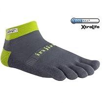 Injinji Trail Midweight Micro Socks 3-Pack Granite XL