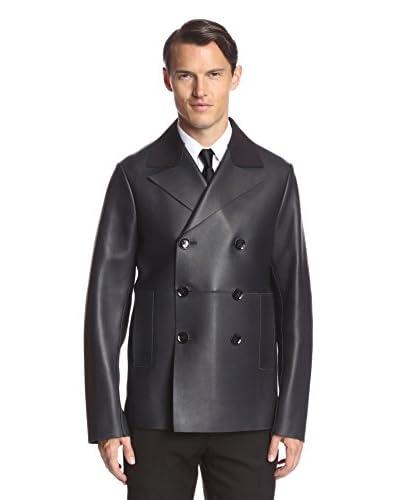 Valentino Men's Leather Peacoat