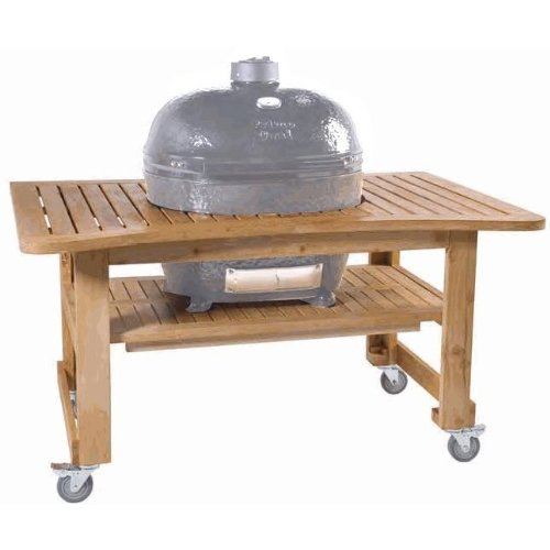 Primo 603 Teak Table for Primo Oval XL Grill