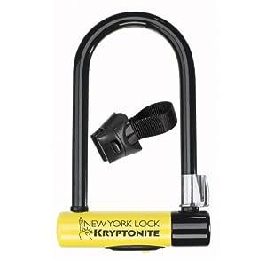 Kryptonite New York Standard Bicycle U-Lock with Transit FlexFrame Bracket (4-Inch x... by Kryptonite