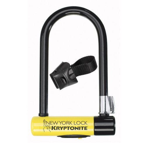 kryptonite new york standard bicycle u lock with transit flexframe bracket 4. Black Bedroom Furniture Sets. Home Design Ideas