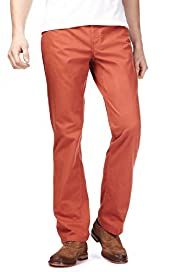 Autograph Pure Cotton Stay Dark Straight Fit Trousers