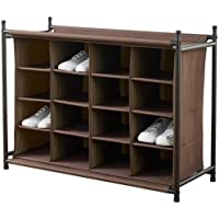 Home Decorators Collection 16-Compartment Shoe Organizer (Brown)