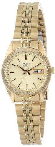 Pulsar Women's Gold Dress Watch PXX004