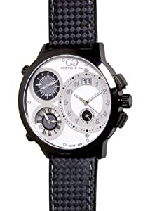 Curtis & Co. Big Time World 57mm Black Series White Dial Swiss Made Numbered Limited Edition Watch