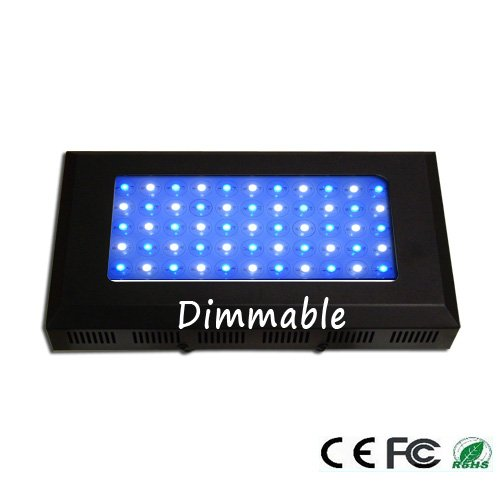 165 Watt Aquarium Coral Reef Led Grow Light , 55X3 Watt Dimmable Blue & White Ratio 28:27 One-Year Warranty