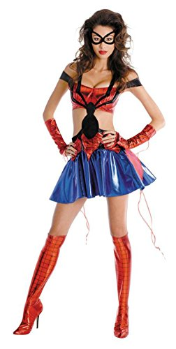 Disguise Womens Spidergirl Sassy Prestige Marvel Halloween Party Fancy Costume