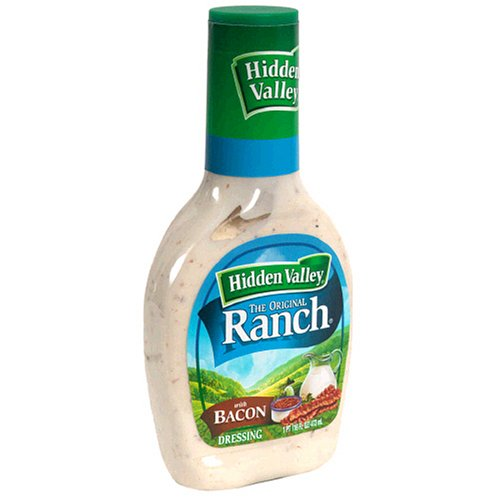 Hidden Valley Ranch Dressing, Original with Bacon, 16-Ounce Bottles (Pack of 6)