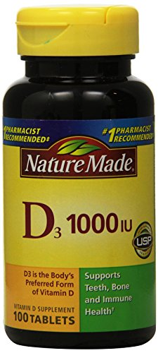 Nature Made Vitamin D 3, 1000IU, 100 Tablets (Pack of 3) (Nature Made Vitamin D3 1000iu compare prices)