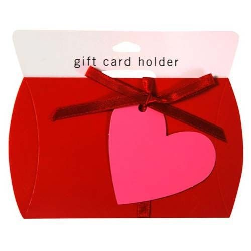 Red Gift Card Holder with Heart (10 Piece)