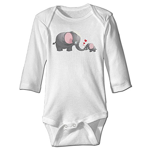 [Mom Kid Elephant Heart Cute Boy And Girl Baby Climb Clothes 6 M White] (Lucas Mother 3 Costume)