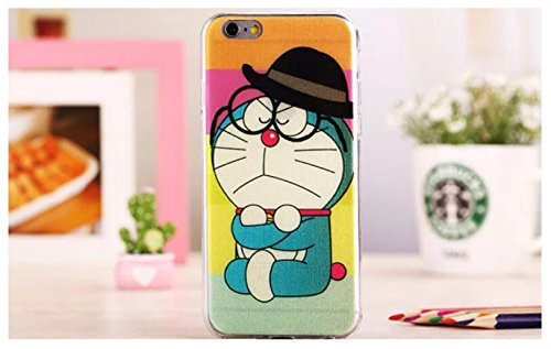 Creative-Telefon Shell Gläsern Cartoon-Serie Doraemon neue ultra-dünne Silikon-Softshell Schutzhülle Hülle Schutzhülle 4,7-Zoll-Mobilteil für Apple iPhone6 Taschen & Schalen Handyzubehör Phone Case Telefon-Kasten