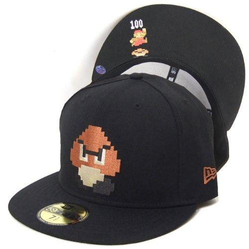(ニューエラ)NEW ERA BBキャップ ベースボールキャップ メンズ 帽子 クリボー SUPER MARIO BROS DOT 59FIFTY N0013653 ブラック
