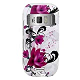 Snap on Hard Plastic With RED FLOWERS ON WHITE Design Cover Sleeve Case for ....