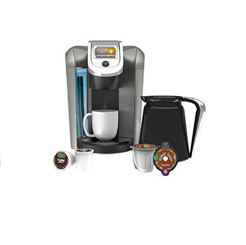 Keurig 2.0 Coffee & Tea Brewer Maker K560 - Bonus Set Includes 32Oz Carafe + 48 K-Cups + 4 K-Carafe Packs + Water Filter & Handle