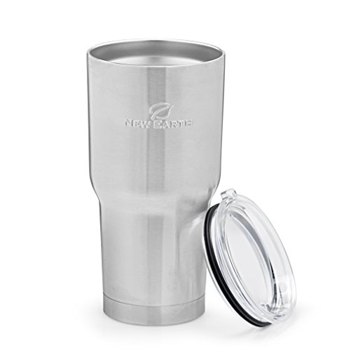 30oz Stainless Steel Tumbler - Mug - Cup - With Lid, Eco-Friendly Double Walled Vacuum Insulated - Ideal For Both COLD (Smoothie Shakes Soda Water) & HOT (Coffee Tea Hot Chocolate) Drinks!
