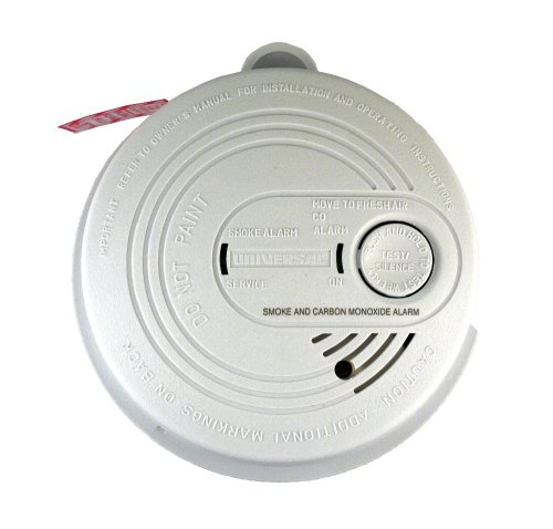 Universal Security Instruments USI-7795 120-Volt AC/DC Wired-In Combination Smoke and Carbon Monoxide Alarm