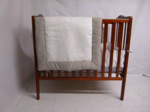 Baby Doll Bedding Zuma Port-A-Crib Bedding Set, Grey/White