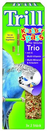 Trill Knabber Spaß für Sittiche Trio mit Ei,