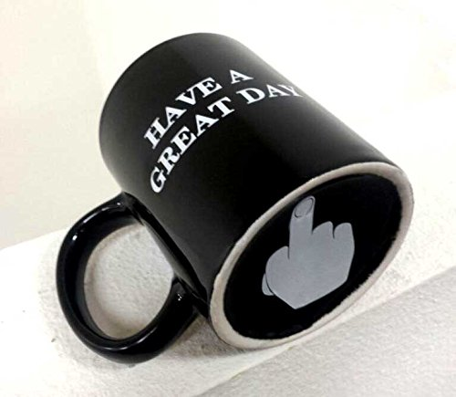 Coffee mug Have a Great Day Mugs Middle Finger Cute Mug - Funny Flip Off Ceramic Coffee Cup Black (Finger Coffee Cup compare prices)