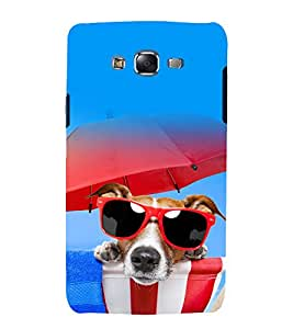 printtech Cool Dog Glasses Back Case Cover for Samsung Galaxy J7 / Samsung Galaxy J7 J700F