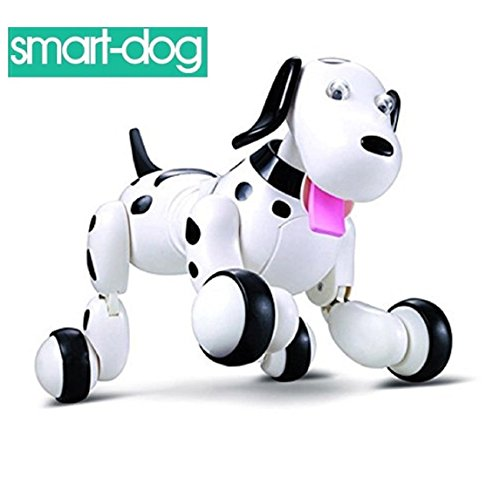 SainSmart Jr. Electronic RC Smart Dog, Wireless Interactive Puppy, Children's Toy Dancing Robot Pet, Black