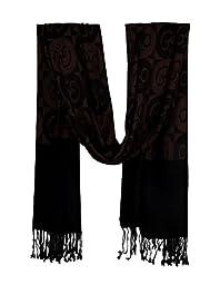Sunshine Joy Unisex-Adult Om Checker Print Designer Shawl Scarf One Size Brown