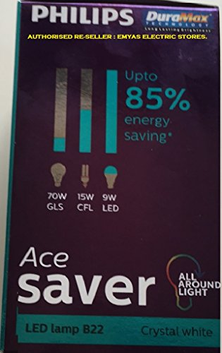 Philips-Ace-Saver-9W-LED-Bulb-(Crystal-White-and-Cool-Day-Light)