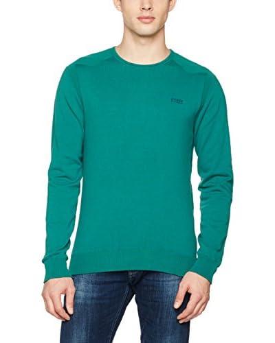 Guess Sweatshirt Ls Cn Nemanja grün