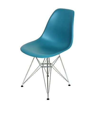Control Brand Mid-Century-Inspired X-Leg Dining Chair, Turquoise