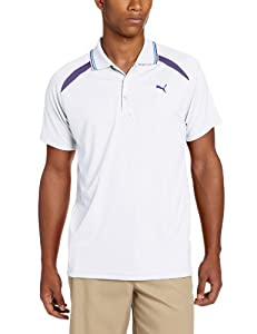 Puma Golf Men's Laser Cut Polo, White, Small