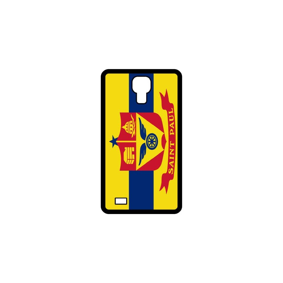 Saint Paul Minnesota MN City State Flag Black Samsung Galaxy S4 i9500   Cell Phone Case   Cover