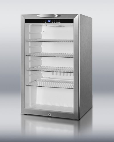 Summit Scr485Lcss: Commercially Approved Counter Height Beverage Merchandiser With Glass Door, Stainless Ste