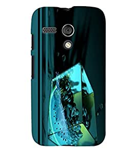 PrintVisa Modern Art Cube Women 3D Hard Polycarbonate Designer Back Case Cover for Motorola Moto G