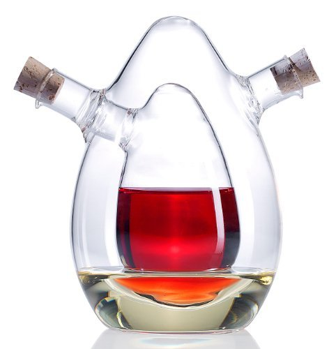 Rosenstein & Söhne Distributeur 2 en 1 en verre pour huile et vinaigre