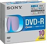 Sony DVD-R 4.7GB データ用 16倍速対応 カラーMixプリンタブル 10枚パック 10DMR47HPXH