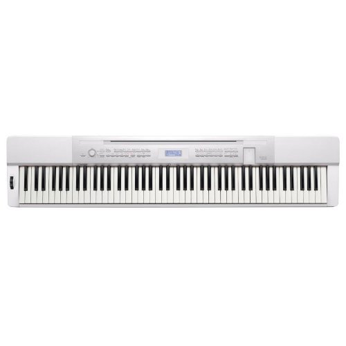 Casio Privia Px-350We Digital Piano (White) Bundle With Casio Cs-67 Privia Keyboard Stand (White), Casio Sp33 Three-Pedal, Stageline Kb40 Keyboard Bench