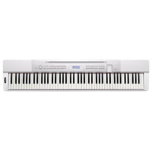 Casio Privia Px-350We Digital Piano (White) Bundle With Casio Cs-67 Privia Keyboard Stand (White), Casio Sp33 Three-Pedal, Stageline Kb40 Keyboard Bench