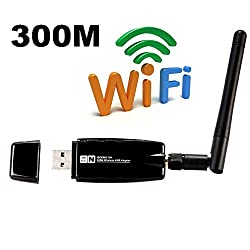 Vafru VN-300M 300Mbps Wireless-N USB Wifi Adapter w/ WPS button - 802.11 n, 2.4GHz - w/ High Gain Antenna -Compatible with Windows XP/Vista/7/8/8.1/10/2008r2/2012r2, Mint 14/15/16/17/17.1, Ubuntu 12.10/13.04/13.10/14.04/14.10, Fedora 18/19/20/21, openSUSE 12.2/12.3/13.1,CentOS 6.4/6.5/7, Lubuntu 12.10/13.04/13.10/14.04/14.10, Zorin 8.1/9.1, Kali Linux and Raspbian Wheezy