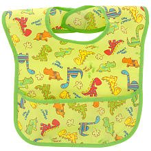 Especially for Baby Dino Print EZ Wipe Bib - 1