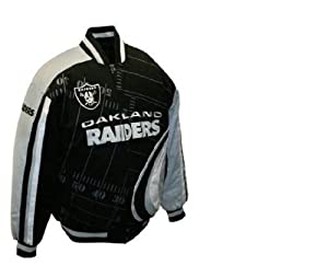 NFL Mens Oakland Raiders Big Play Cotton Twill Jacket by MTC Marketing, Inc