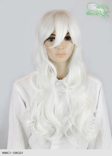スキップウィッグ 魅せる シャープ 小顔に特化したコスプレアレンジウィッグ ドーリィミディ エンジェルホワイト