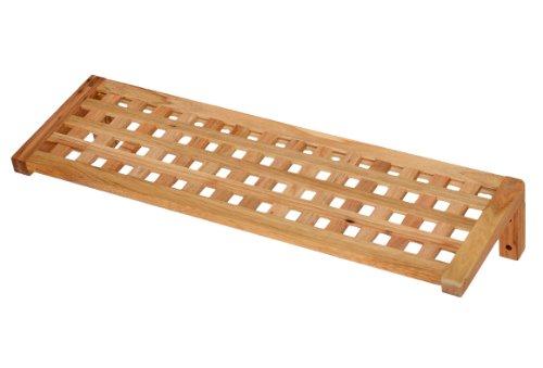 Regal-Wandregal-Board-63-cm-Lnge-aus-Walnuss-Massivholz-fr-Bad-Wohnzimmer-Sauna-Flur-Diele-Kche-Bro-und-Kinderzimmer