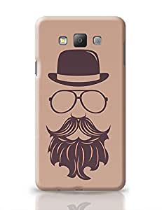 PosterGuy Samsung Galaxy A7 Case Cover - Maroon Hipster | Designed by: Codeburnerz Technologies