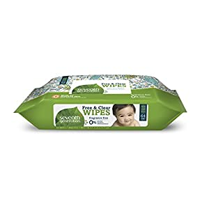 Seventh Generation Thick & Strong Free and Clear Baby Wipes, 384 Count