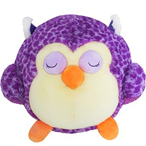 Squishable Round Sleepy Purple Owl