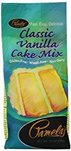 Pamela's Products Classic Vanilla Cake Mix, 21-Ounce Bags (Pack of 6)